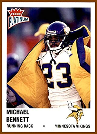 2003 Fleer Platinum 99 Michael Bennett MINNESOTA VIKINGS WISCONSIN BADGERS At Amazons Sports Collectibles Store