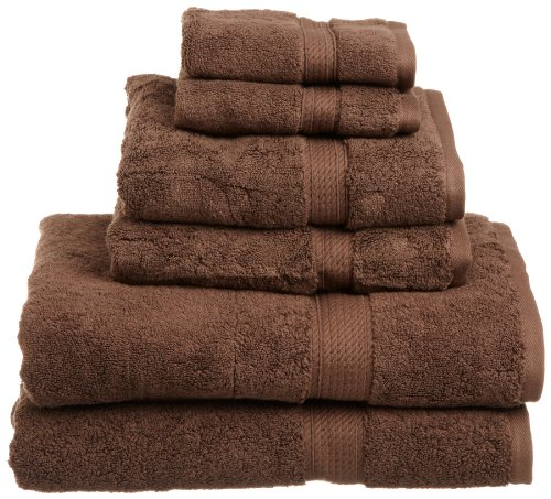 Bath Towel Chocolate (Superior 900 GSM Luxury Bathroom 6-Piece Towel Set, Made of 100% Premium Long-Staple Combed Cotton, 2 Hotel & Spa Quality Washcloths, 2 Hand Towels, and 2 Bath Towels - Chocolate)