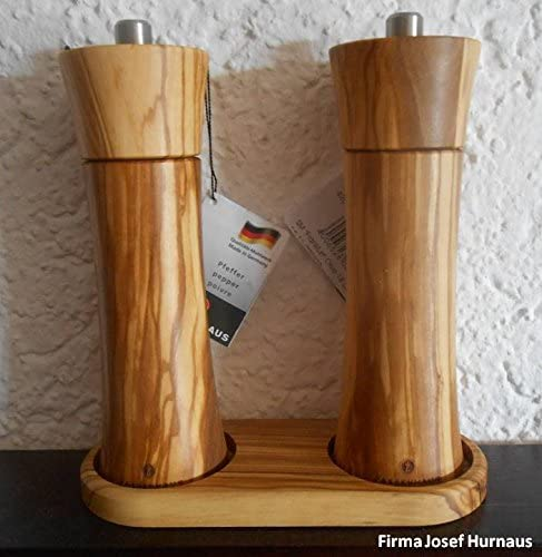 Zassenhaus Frankfurt Salt And Pepper Mill Set 18 Cm With Olive Cruet New Amazon Co Uk Kitchen Home