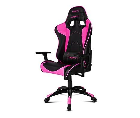 Drift DR300BK - Silla Gaming Profesional, (Polipiel Alta Calidad, Ergonómica), Color Negro/Rosa