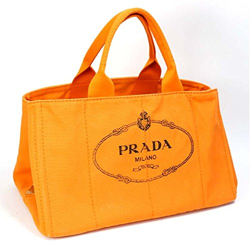 PRADA(プラダ) カナパ トートバッグ BN1872 オレンジ [中古] B071JBJ2RH