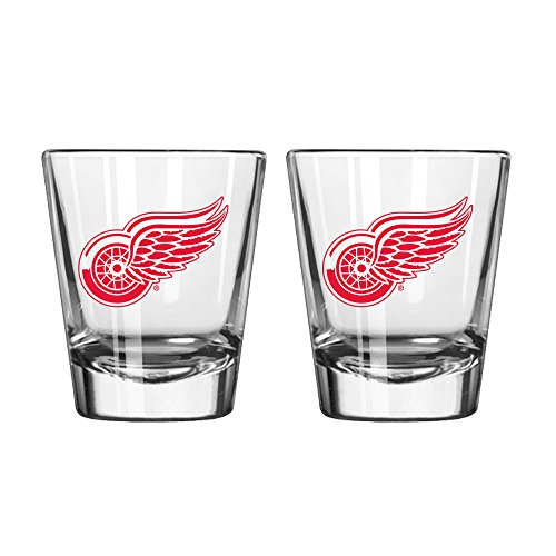 NHL Detroit Red Wings Game Day Shot Glass, 2-ounce, 2-Pack