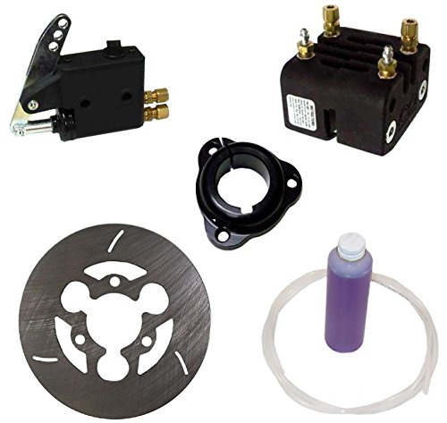"NEW MCP REAR GO KART ANIMAL BRAKE KIT FOR 1.25"" AXLES WITH ENGINETICS HUB, MASTER CYLINDER, BRAKE CALIPER, 6"" X 1/8"" BRAKE ROTOR, LINES, & FLUID"