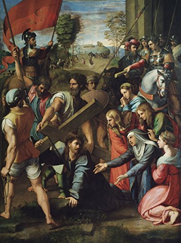 Raphael - Jesus Carrying His Cross, Size 24x32 inch, Poster Art Print Wall décor ()
