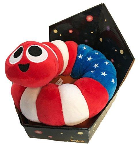 Slither.io Jumbo 24 Bendable Plush Toy in box - Patriot American Flag - Plush Bendable