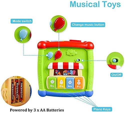 AiTuiTui Cubo attività Bambino, 6-in-1 Multifunzione Giochi Centri Educativi Prima Scatola di apprendimento Infanzia… 5