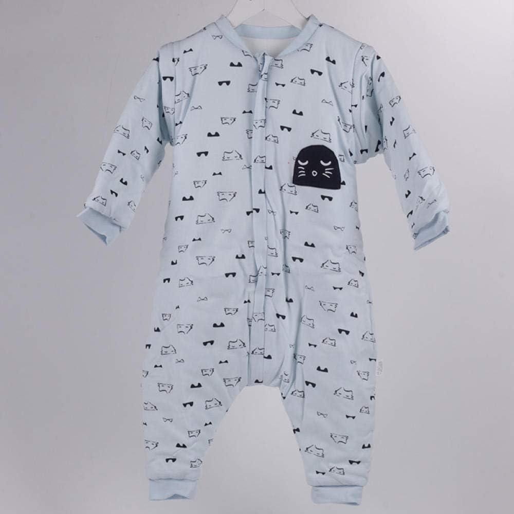 Saco de dormir para bebé de invierno,Edredón desmontable a prueba de patadas para bebés, saco de dormir de pierna dividida para niños-azul_100-120cm, Bolsa de Dormir de Bebé de Mangas Largas: Amazon.es: Hogar