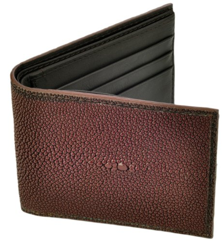 Stingray Leather Wallet, BiFold, 6 Credit Card Slots, Brown w/Brown Leather (Stingray Card)
