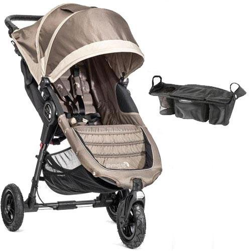 Single Stroller Stone - Baby Jogger - City Mini GT Single Stroller with Parent Console - Sand Stone