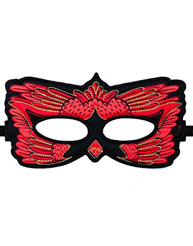 DREAMY DRESS-UPS Fanciful Feathered Friend Bird Mask, Cardinal