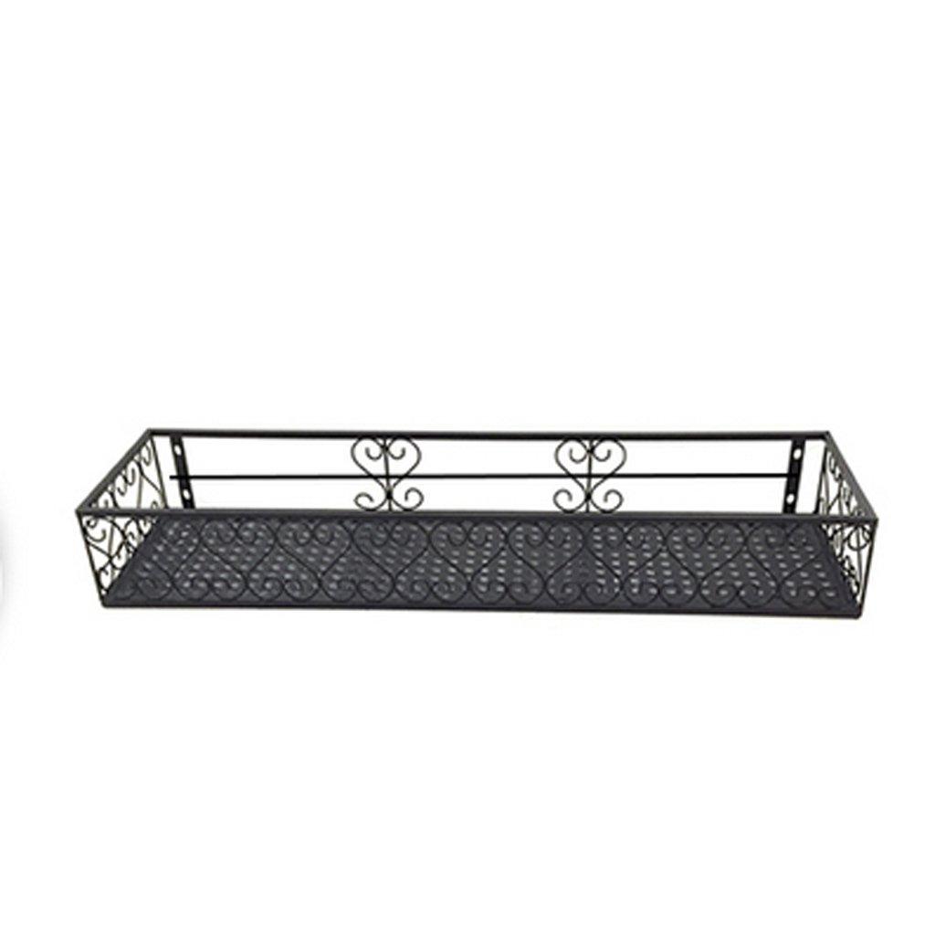 LPYMX Portabottiglie per balconi in Ferro Che appendono rastrelliere Multi-Fiore a più Piani Portavaso (Dimensioni   80  20cm)