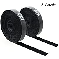 2-Pack Security Reusable Fastening Tape 20feet Cable Ties
