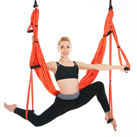 Amazon.com: Oufiyap Yoga Hammock Silk Aerial Yoga Swing ...