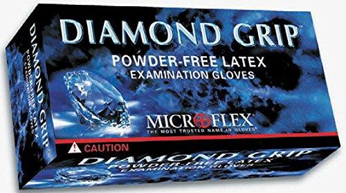 Microflex Diamond Grip Latex Glove, Powder Free, Large