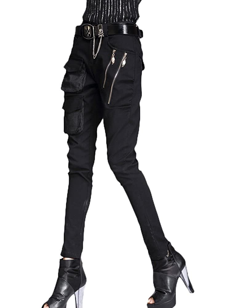 f009b45fea6 Minibee Pernalized Punk Street Style Harem Pants Patchwork Zipper Pockets   Amazon.ca  Clothing   Accessories