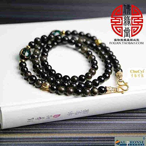 Generic Yao_Shi_Taiguo_ Natural gold _amulet_ Beads necklace pendant lanyards men's accessories (Bead Amulet Bag)