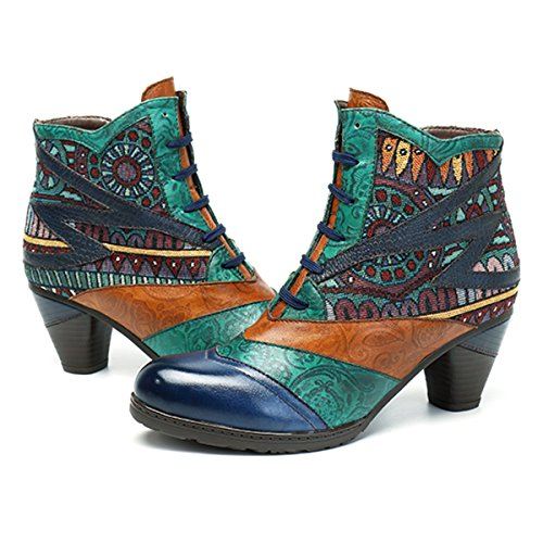 8022ad9dcf5a Socofy Leather Ankle Boots