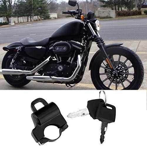 Duokon Motorrad Helmschloss 22mm Lenker Motorrad Helmschloss Universal Motorrad Helm Sicherheitsschloss Vorh/ängeschloss mit 2 Schl/üsseln Schwarz