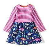 Dan Ching Girls Cotton Long Sleeve Shirt Dress 2T