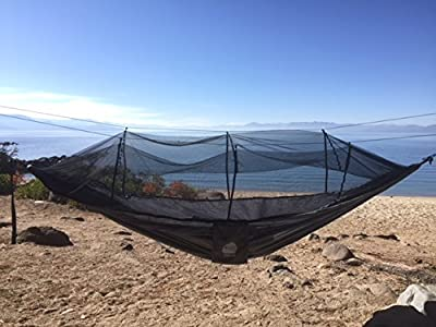Fully Equipped Super Lightweight Camping Hammock with Mosquito Net and Rain Fly