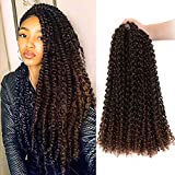 Passion Twist Hair Ombre Brown 18 inch 6 packs Water Wave Crochet Braids for Passion Twist Crochet Hair Passion Twist Braiding Hair Extensions