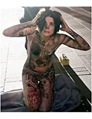 Blindspot Jaimie Alexander as Jane Doe on knees hands on head 8 x 10 Inch Photo