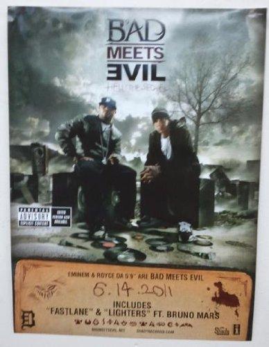 Sequel Poster (EMINEM - BAD MEETS EVIL HELL THE SEQUEL 18x24 POSTER P2266)