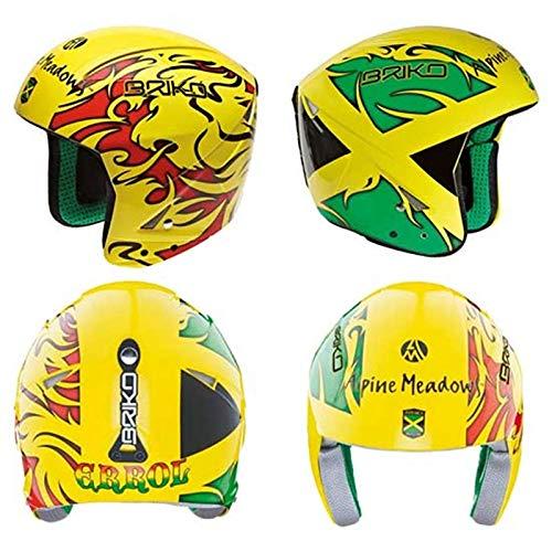 (Briko Phoenix Ski Helmet (Jamaica Yellow/Red,)