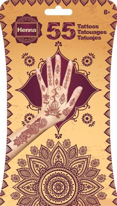 Temporary Henna Tattoos 55 Mixed Designs