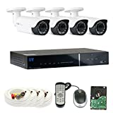 Cheap GW Security 2.1MP HD-TVI 1080P Complete Security System | (4) x 2.1MP HDTVI (True HD 1080P @30fps) Outdoor 2.8-12mm Varifocal Zoom Bullet Security Cameras, 4-Channel Plug and Play DVR, 1TB Hard Drive
