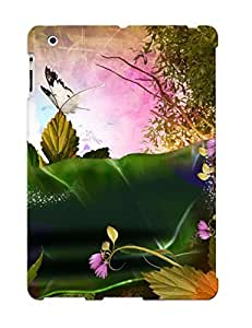 Case Provided For Ipad 2/3/4 Protector Case Butterflies On Fallen Leaves Phone Cover With Appearance
