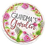 Gift Craft Grandma's Garden Hummingbird Floral 9 Inch Round indoor Outdoor Garden Stepping Stone