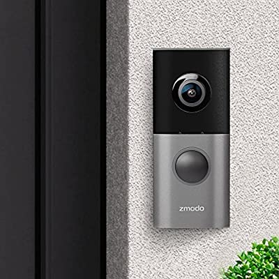 Zmodo Greet Pro Smart Video Doorbell, Full HD 180 Degree Wide Angle Camera, Dual Band 5GHz/2.4GHz Capability