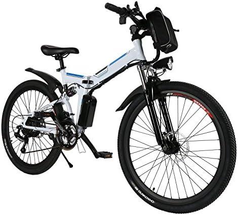 cooshional Bicicleta Eléctrica Plegable de Montaña con la Batería ...