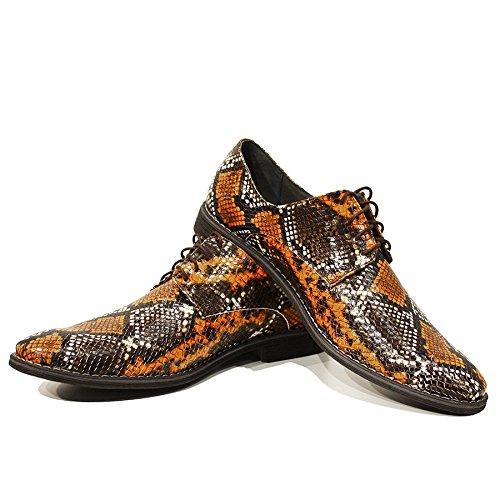 Modello Achille - Handgemachtes Italienisch Leder Herren Bunt Oxfords Abendschuhe - Ziegenleder Weiches Leder - Schnüren