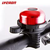 LYCAON Bicycle Bell 8 Colors Mini Aluminum Alloy Bike Ring Loud Crisp Clear Sound Horn Bike Accessories for Scooter Cruiser Ebike Tricycle Mountain Road Bike MTB BMX Electric Bike (Red)