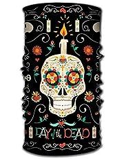 Quintion Robeson Bandana Diadema Paquete al Aire Libre Día Mexicano Cartel Muerto Dibujado a Mano Feliz Calavera de azúcar Decoración Floral de Primavera Eléctrico