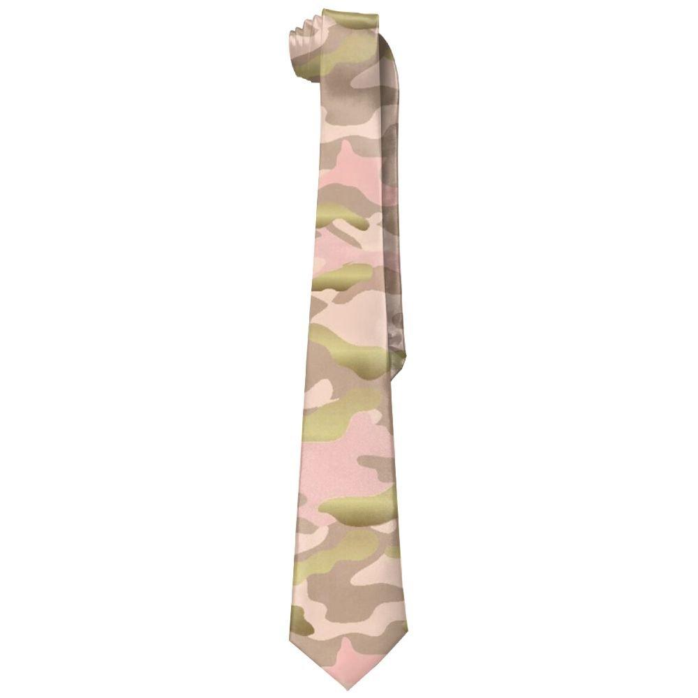 Pink Camouflage Mens Necktie Fashion Silk Tie