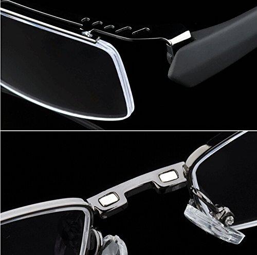 495de8564e4 Agstum Mens Half Rimless Myopia Glasses Frame Magnetic Clip On - Import It  All