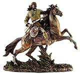 GERONIMO ON HORSEBACK Real Bronze Powder Cast Native American Apache Indian Warrior Sculpture Statue