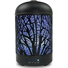 Aromatherapy Essential Oil Diffuser, Aroma Diffuser for Essential Oils with 4 Time Setting Modes and 7 Changing Color Light Cool Mist Humidifier, Waterless Auto Shut-off for Baby Home Office Yoga