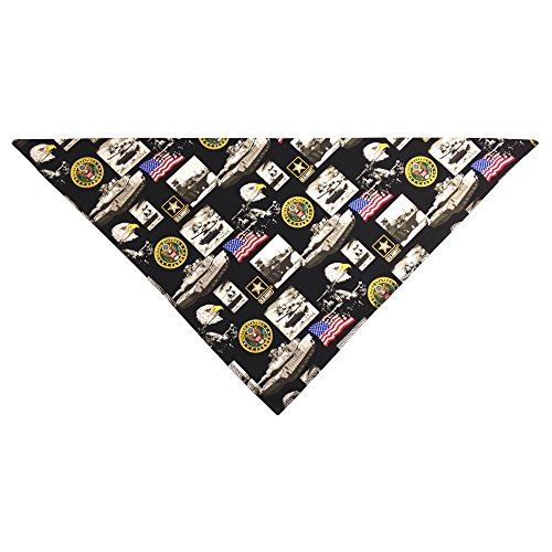 United States Army Dog Bandana (Large: 14-20 inches) by Precious Paw Prints Boutique