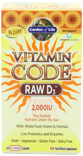 Garden of Life Vitamin Code RAW D3, 60 capsules