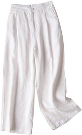 Pantalones De Algodón Y Lino para Mujer Pantalones Anchos Talla Grande: Amazon.es: Ropa y accesorios