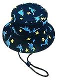 Kids Little Boy Fishing Hat, UPF 50+ UV Protection Cotton Bucket Cap