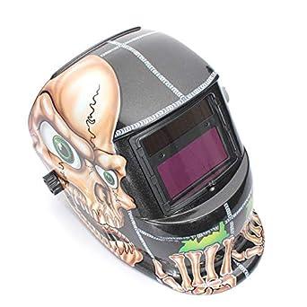 Generic Cráneo solar oscurecimiento automático Arc Tig Mig Soldadura Grinding Casco Soldador Máscara: Amazon.es: Industria, empresas y ciencia