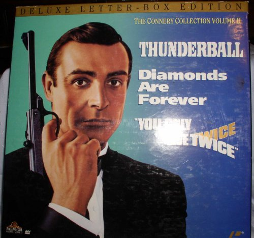 DELUXE LETTER-BOX LASER DISC EDITION THE CONNERY COLLECTION 11- THUNDERBALL - DIAMONDS ARE FOREVER - YOU ONLY LIVE TWICE