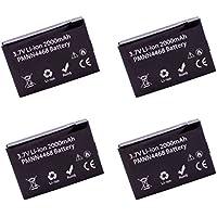 4 Pack Maxtop AMCL4468-2000-D PMNN4468A PMNN4468 Li-ion Battery for Motorola SL300 (2000 mAh)