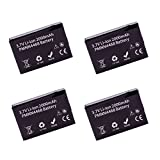 4 Pack ArrowMax AMCL4468-2000-D PMNN4468A PMNN4468 Li-ion Battery for Motorola SL300 (2000 mAh)