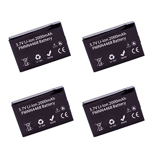 4 Pack ArrowMax AMCL4468-2000-D PMNN4468A PMNN4468 Li-ion Battery for Motorola SL300 (2000 mAh) ()